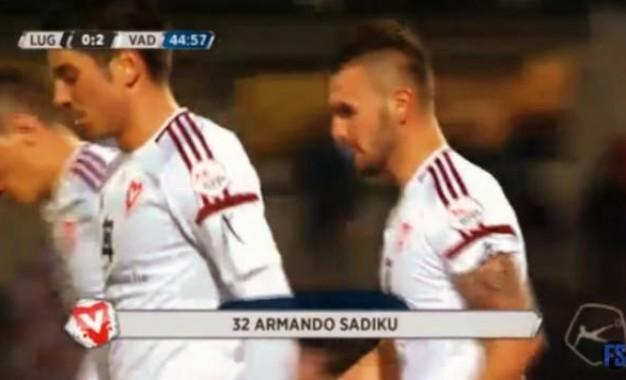 Shkëlqen Armando Sadiku – shënon dy gola për Vaduzin