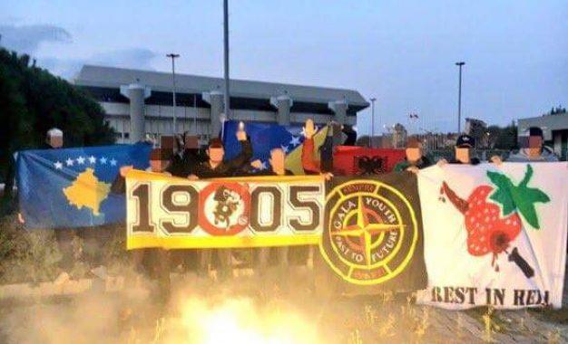 Tifozët e Galatasarayt me flamur të Kosovës provokojnë serbët